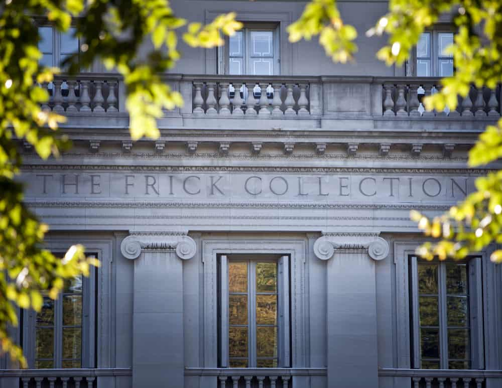 The exterior of the Frick Collection.