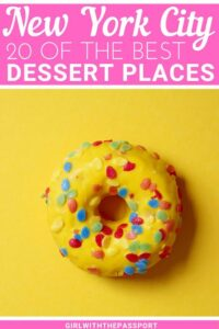 Calling all New York City foodies! Not sure where to find the best desserts in New York City? Then check out this local's guide to 20 of the best dessert places in New York City and most out of this iconic foodie destination. Because NYC really is one of the best cities for foodies in the entire world. #NYCtravel #NYCfoodie #NYCdesserts #NewYorkCity
