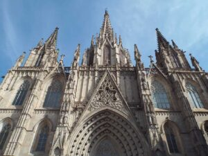 La Cathedral in Barcelona's Gothic Quarter.