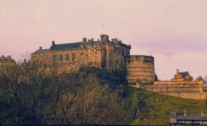 One of the many amazing views of Edinburgh Castle.