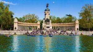 The iconic beauty of Parque Buen Retiro in Madrid, Spain.
