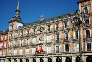 The beautiful Plaza Mayor in Madrid.