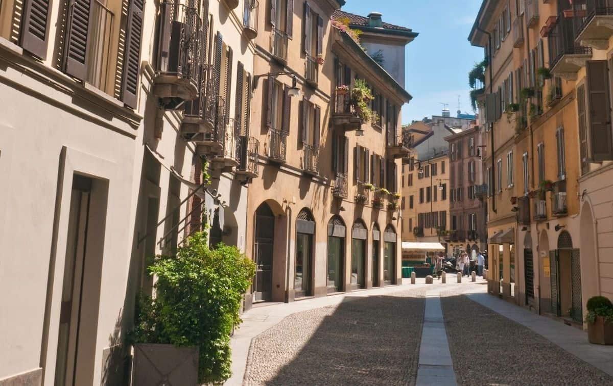 Quadrilatero d'Oro or the fashion district of Milan.