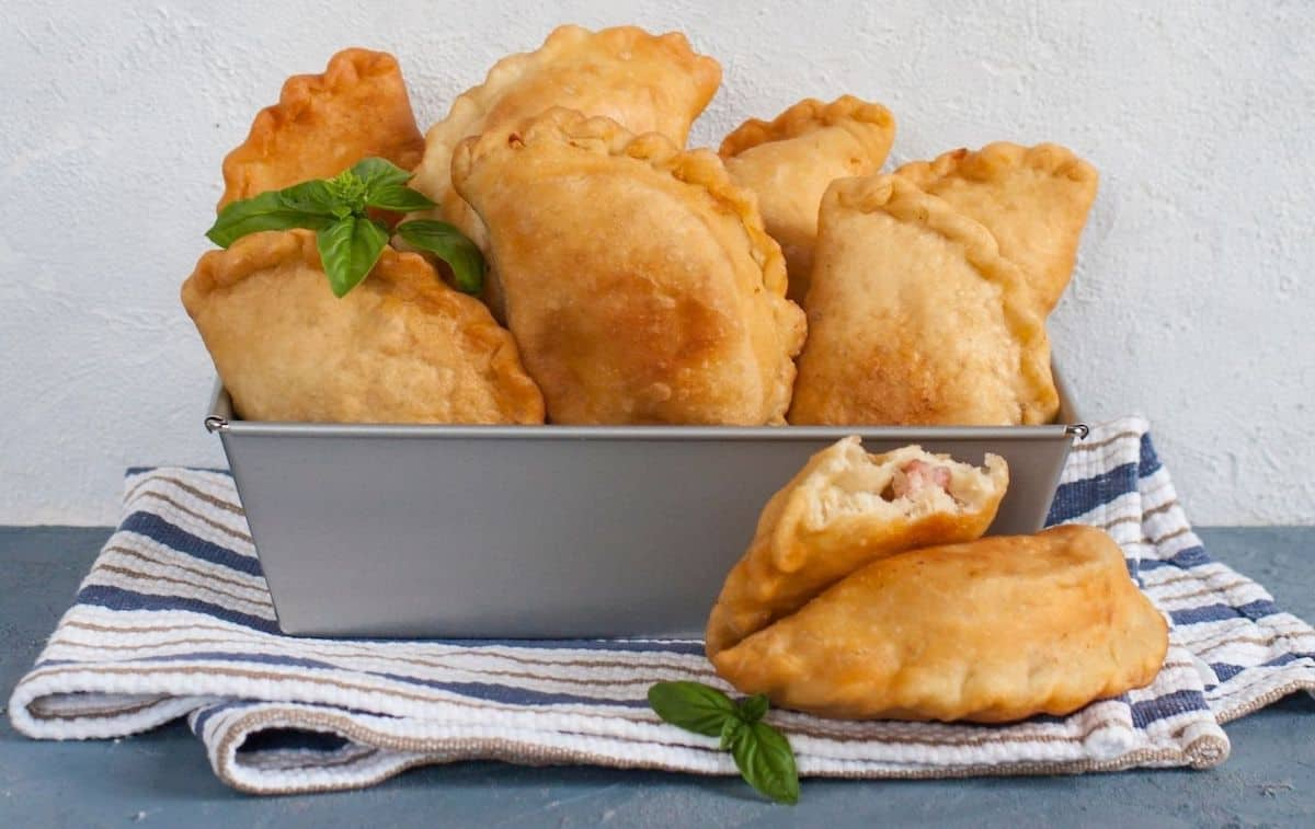 Fresh fried panzerotti from Milan. One of the best things to eat with one day in Milan.