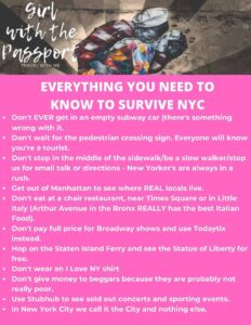 Don't forget to get your free, printable list of top NYC tips!