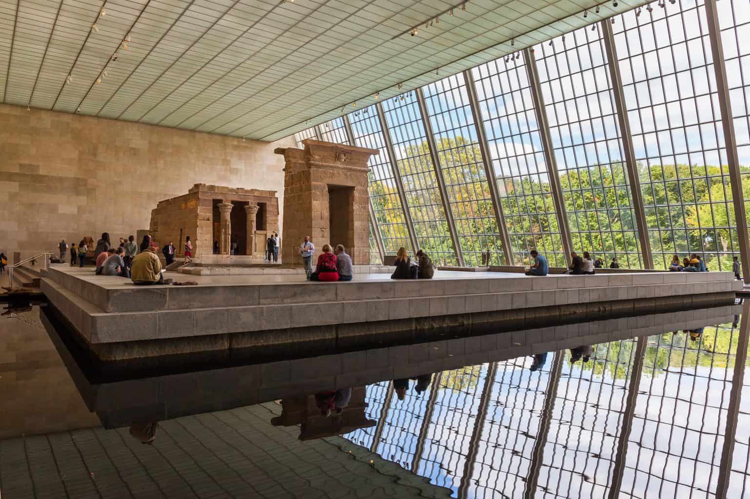 Visit iconic places like the Temple of Dendur in the Metropolitan Museum of Art in NYC.