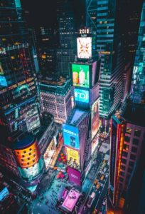 The iconic electric beauty of Times Square in New York City.