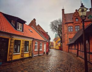 Ribe is a quiet village in Denmark that embraces the quaint charms of the past through exquisite, historic architecture.