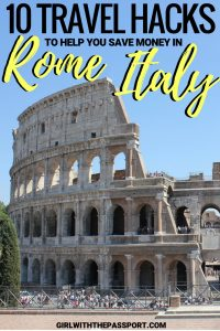 When you plan Rome, Italy travel, visits to the Coliseum, the Vatican Museum, and the Roman Forum can all add up quickly. So to help you learn how to save money in Rome, Italy, I have created this list of ten essential travel hacks that will help you save on money on Rome Italy food and Rome Italy things to do so that you won't go broke while traveling to Italy. #rome #italy #travel #europe #wanderlust