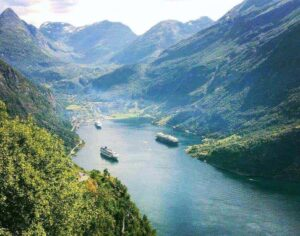 Geirangerfjord is a gorgeous part of Norway that you should add to your Scandinavia travel itinerary.