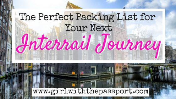 An Interrail Packing List for the Perfect European Adventure