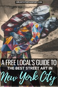 From Dumbo to Coney Island to Little Italy to Harlem, NYC street art is some of the best street art in the world. But it can best hard to find the best New York City street art locations, to do some great New York City photography when you're not a local. That;s why this local's street art guide will help you find some of the best street art in New York City since street art tours are one of the great free, New York City things to do. #streetart #NYC #NewYorkCity #USA
