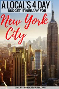 If you are planning some New York City travel, but are short on time and cash, then this New York City itinerary is for you. Discover all the New York City things to do and New York City food to eat for just $40 a day. Discover Central Park, the Highline, the Bushwick Collective, Chelsea Market, the Statue of Liberty and more. #NYC #NewYorkCity #USA #travel #wanderlust