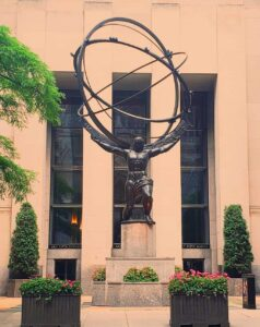 The Atlas Statue. One of the many iconic sights you will see as you walk up Fifth Avenue