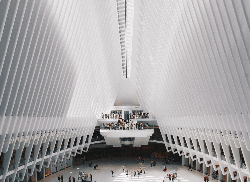 Stop by the Oculus and admire the stunning, modern architecture there.