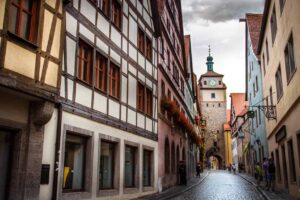 The charming city of Rothenburg ob der Tauber in Germany.