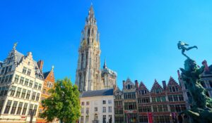 Just some of the historic beauty you'll find at Grote Markt in Antwerp, Belgium.