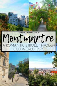 Take a stroll with me through the charming, old-world streets of Montmartre, Paris. Between Sacre Coeur, the Dali Exhibition, the Wall of Love, and the Musee de Montmartre, discover all the things to do in Montmartre, as well as some of the best places to eat on this walking tour of Montmartre. #Paris #walkingtour #Montmartre #Paristour #Francetravel