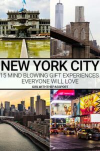 If you need some New York City gifts then check out these 15, fantastic, and totally unique, New York City gift experiences. Including some of the top New York City things to do, these New York City gift ideas are sure to please anyone on your shopping list. #NYCgifts #giftideas #NYCtravel #NewYorkCity