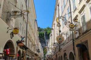 No matter what time of year it is, the streets of Salzburg, Austria are always beautiful.