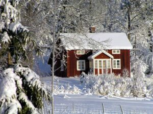 Some of the winter charm you'll find in Jukkasjärvi, Sweden