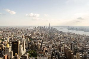 The beautiful bird's eye view that you'll get from your New York City helicopter tour.