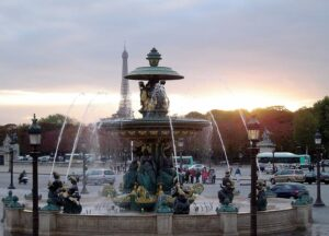 The beautiful Place de la Concorde.