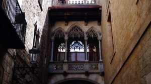 Just some of the amazing architecture you'll find in the Gothic Quarter of Barcelona.