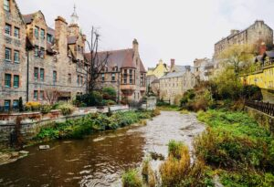 Free walking tours are a great way to explore some of the most charming neighborhoods in Edinburgh, like Dean's Village.
