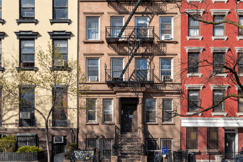 Beautiful brownstones in the East Village of NYC