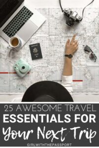 Oprah, eat your heart out! This is my list of 25, must have travel items that this traveler loves and uses every single day. So if you have no idea what to get the traveler in your life, or if the people in your life have no idea what to get you, then this is the travel gift list for you. Plus, everything on this list is reasonably priced. #travelgifts #giftlist #travelessentials #travelitems #travelaccesories