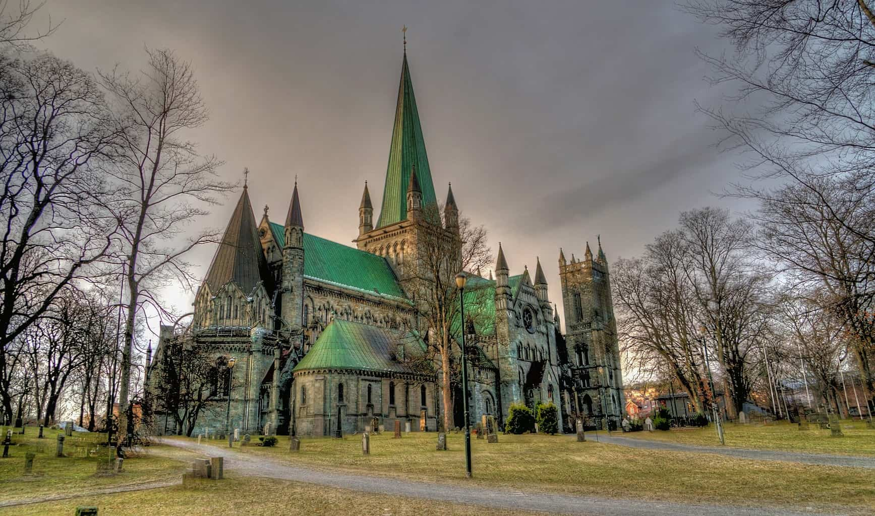 One of my fave Norway travel tips is to avoid the convenience stores and visit Nidaros Cathedral in Trondheim, Norway instead.