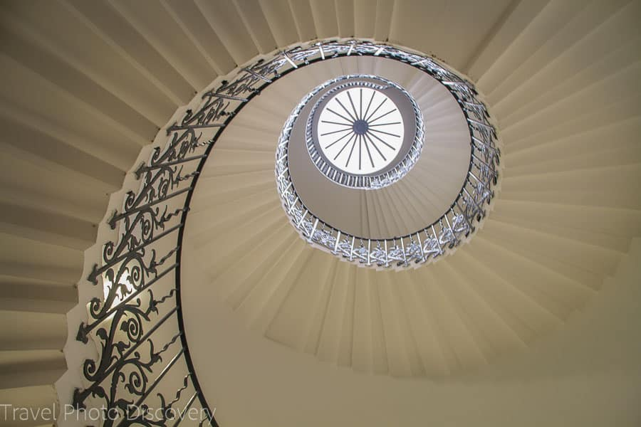 The enchanting spiral staircase the Queen's House in Greenwich, London.