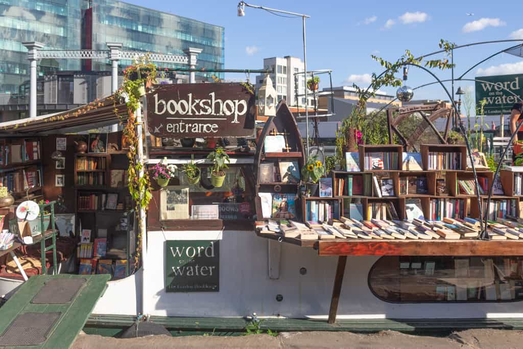 If you love books and finding unusual things to do in London, then visit Words on the Water, a lovely little bookshop that sits on a boat that is moored in Regent's Canal.