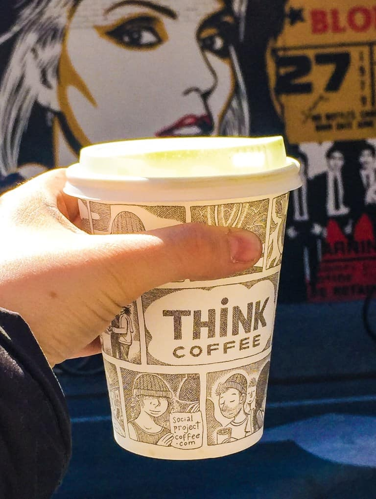 "Trust me, you'll never have to ""think"" about buying coffee from this top NYC coffee shop."