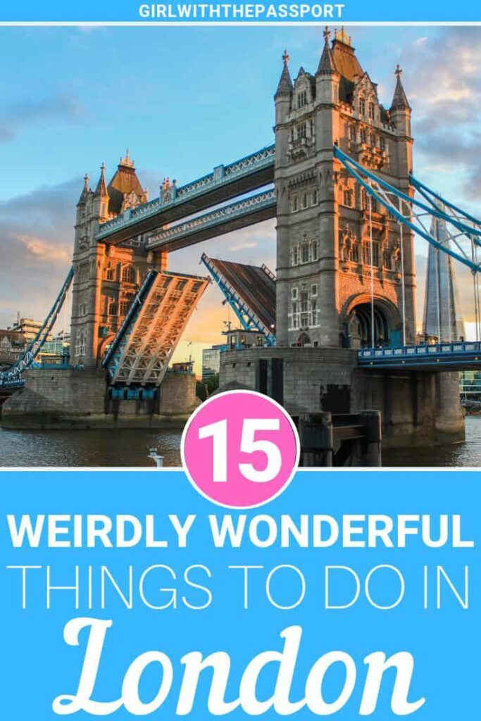 Planning a trip to London? Great  because this London travel guide is perfect for any traveler looking to get off the beaten path. So here are 15 awesome and unusual things to do in London like afternoon tea at Cutter and Squidge, spending the night in wizard chambers, visiting unique artifacts at the Victoria and Albert Museum, and more.  #Londontravel #LondonGuide #LondonItinerary #Londonplanning