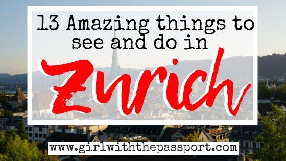 13 Amazing Zurich Tourist Attractions