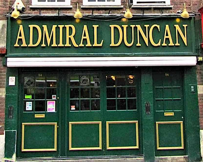 Stop by the Admiral Duncan pub in Soho and experience a piece of LBGTQ history in London.