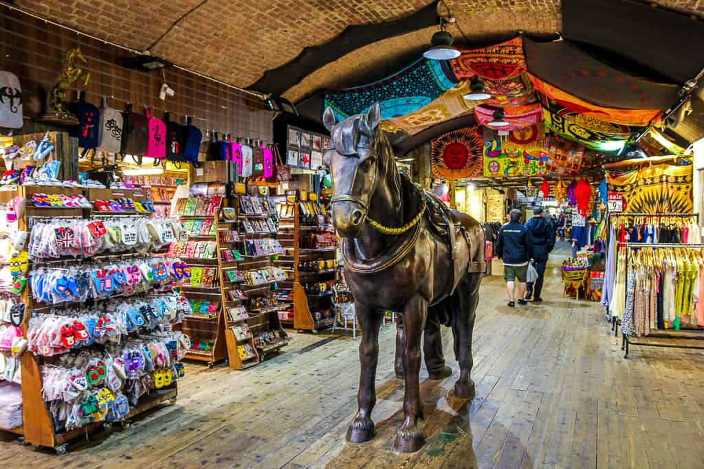 Camden Market is an awesome place to walk around, especially if you're on a budget and backpacking London.