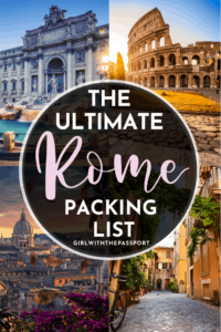 Not sure what to pack for your next trip to Rome, Italy? Then check out this ultimate packing list for Rome, filled with all the essential packing tips and tricks that you'll need to help you create Rome outfits that are perfect for every season. Rome Packing List | What to Wear in Rome | Rome Outfits | Rome Aesthetic | Rome Travel Guide | Rome Travel Tips || Italy Travel | Europe Travel | Rome Packing Guide #RomeOutfits #RomeTravel #RomeGuide #VisitRome #PackingGuide
