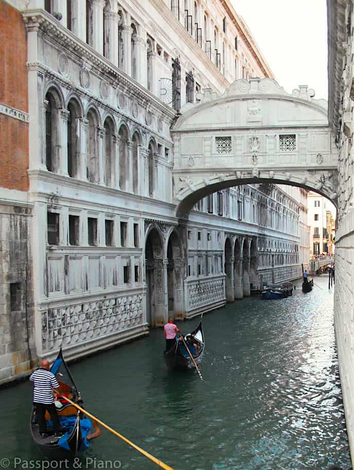 The enchanting beauty of Venice's iconic, Bridge of Sighs.