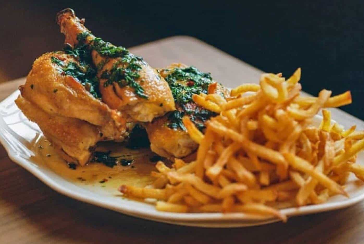 Roast Chicken and French fries from Le Crocodile