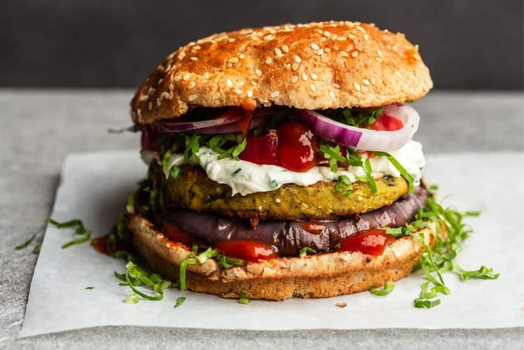Veggie burger from PS Kitchen