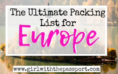 The ULTIMATE Packing List for Europe