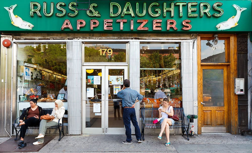 The exterior of Russ and Daughters