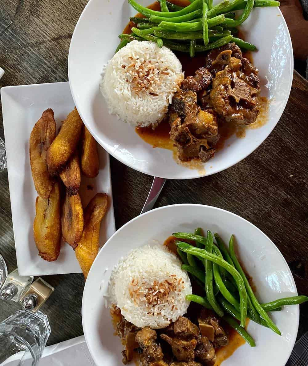 The Edge Plate of Oxtail with rice