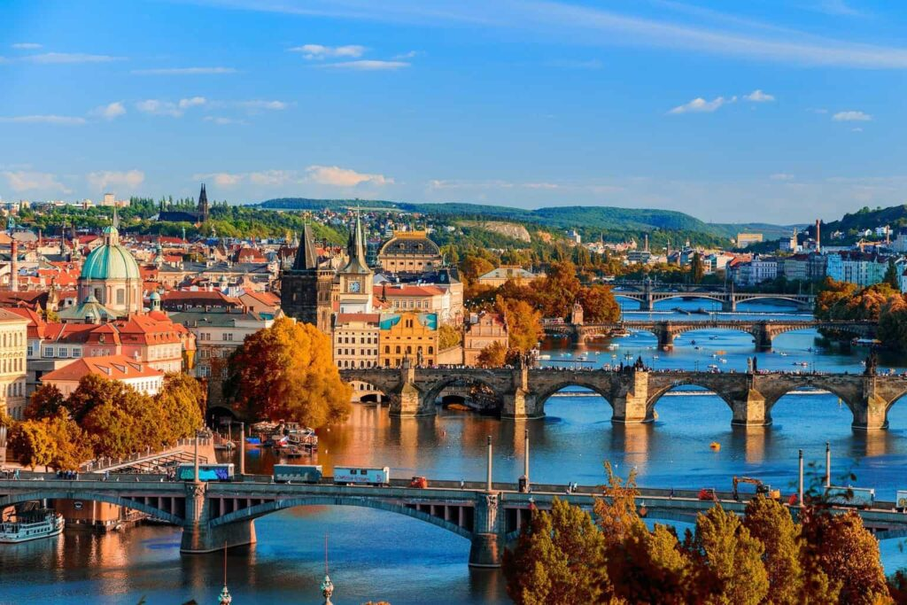 The beauty of Prague during the fall.