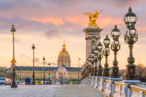 Paris' immortal, Charles III bridge, which spans across the Seine.