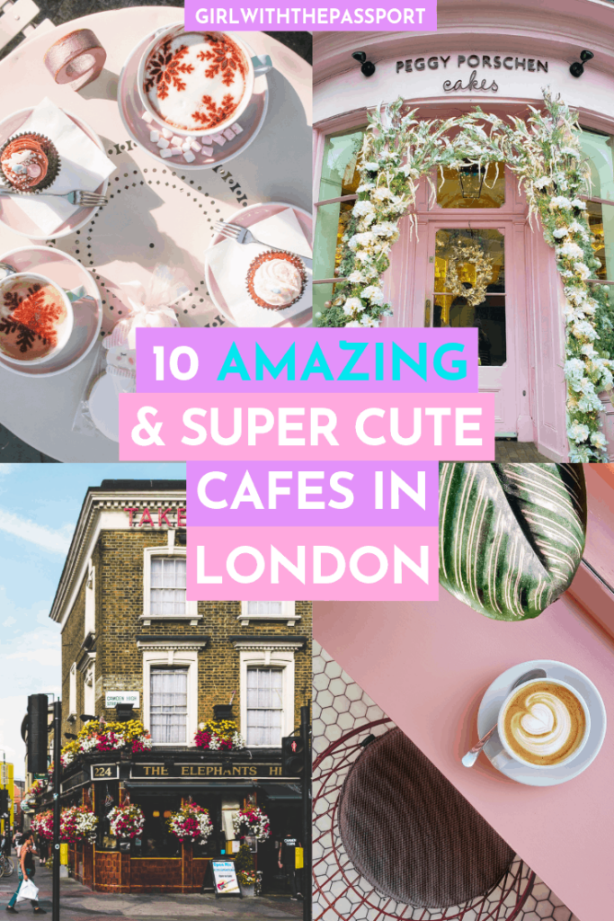 Visiting London, England? Then check out this list of 10 amazingly cute cafes in London. From sweet treats to speciality coffees to amazing photo ops, these cute cafes have it all and are a must-see for anyone doing a bit of London travel. #LondonFoodie #LondonGuide #LondonTravel #VisitLondon