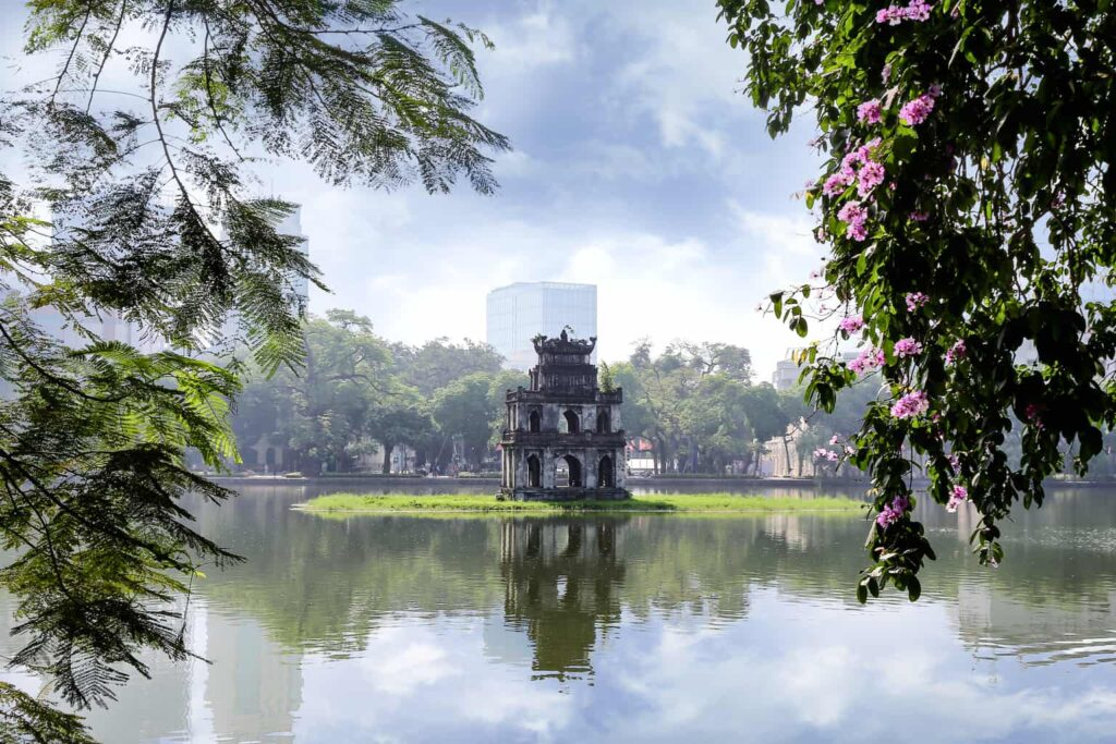 The exquisite beauty of Thap Rua (aka Turtle Tower).